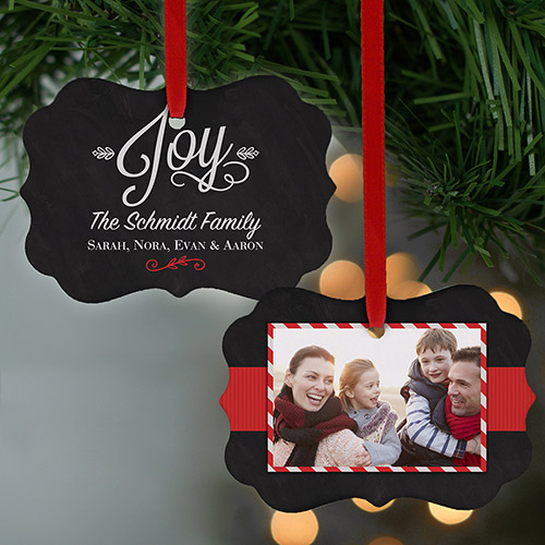Christmas Joy Photo Ornament