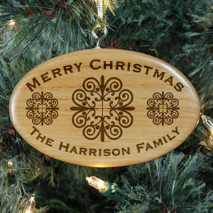Engraved Merry Christmas Ornament