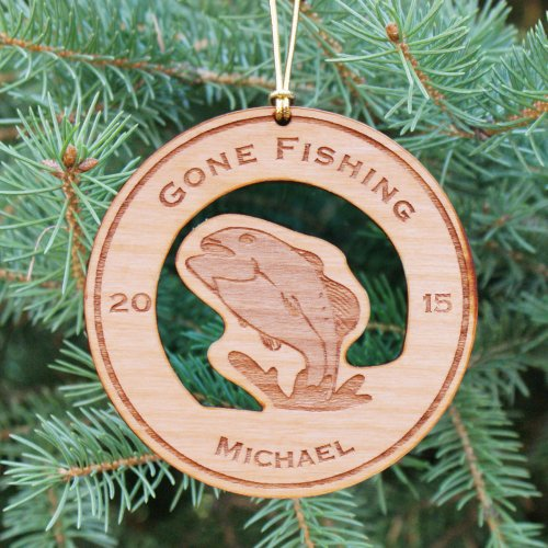Personalized Fishing Christmas Ornament