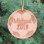 Personalized Soccer Wood Ornament