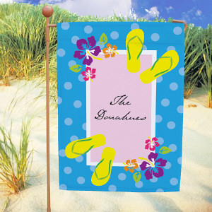 Personalized Flip Flops Garden Flag
