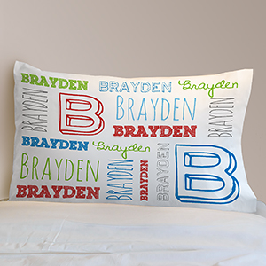 Personalized Name Toddler Pillow 8307826
