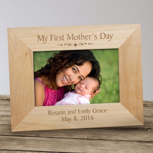 My First Mothers Day Wood Picture Frame | Personalized Gifts for Moms 934241