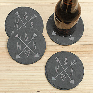 Arrows & Initials  slate coasters L10298153