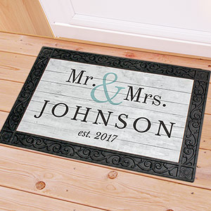 Personalized Mr and Mrs Couple's Doormat U1094583X