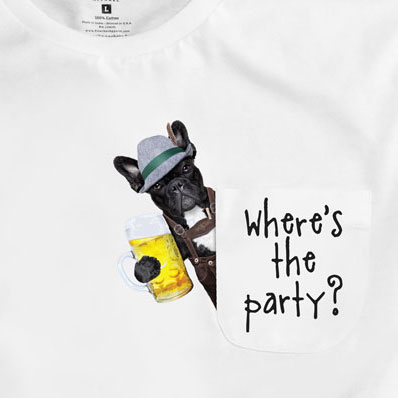 Where's The Party Pocket T-Shirt PT311075X