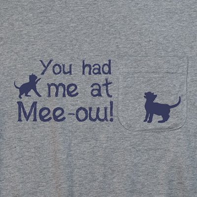 You Had Me At Mee-ow Pocket T-shirt PT311085X