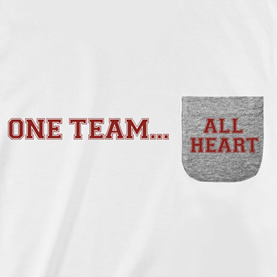 One Team All Heart Pocket T-Shirt PT311299X