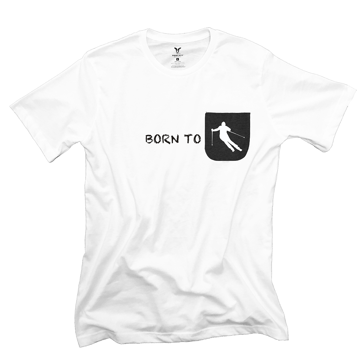 Born to Ski Pocket T-Shirt PT311305X
