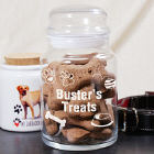 Engraved Dog Treat Glass Jar