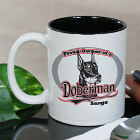 Personalized Proud Owner of a Doberman Mug