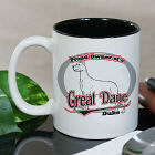 Personalized Proud Owner of a Great Dane Mug