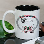 Personalized Proud Owner of a Pug Mug