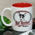 Personalized Proud Owner of a Rat Terrier Mug