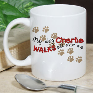 Personalized Walks All Over Me Mug