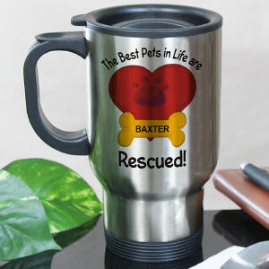 Personalized The Best Pets are Rescued Mug