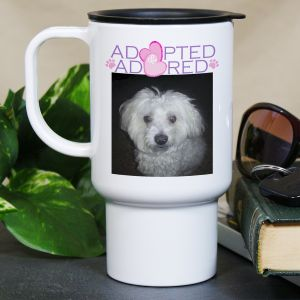Adopted and Adored Pet Photo Mug