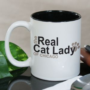 Personalized Real Cat Lady Mug