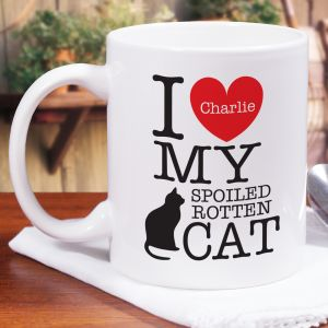 Personalized I Love My Spoiled Cat Mug 271030X