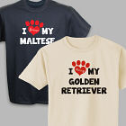 Personalized I Love My Dog T-Shirt