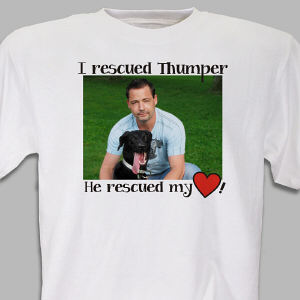 Personalized Rescued Pet Photo T-Shirt