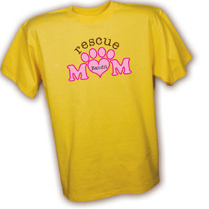 Personalized Rescue Mom T-Shirt