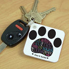Personalized Dog Owner Key Chain