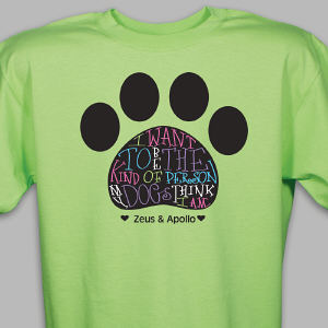 Personalized Dog Owner T-Shirt