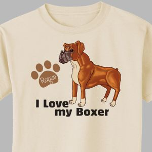 Personalized I Love My Boxer T-Shirt