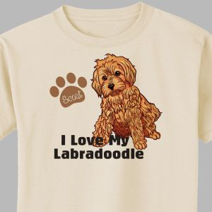 Personalized I Love My Labradoodle T-Shirt