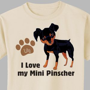 Personalized I Love My Mini Pinscher T-Shirt