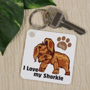 Personalized I Love My Shorkie Key Chain