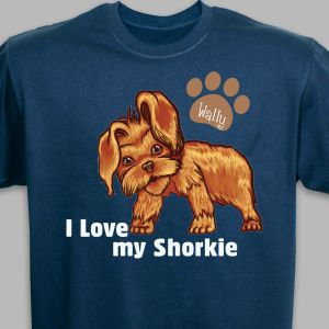 Personalized I Love My Shorkie T-Shirt