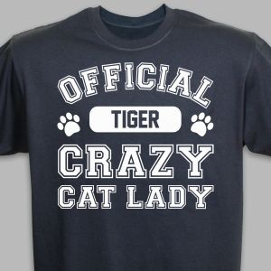 Personalized Crazy Cat Lady T-Shirt