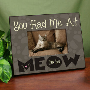 Personalized Had Me At Meow Printed Frame