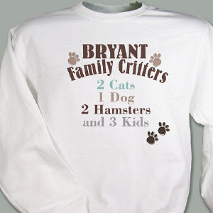 Family Critters Personalized Sweatshirt