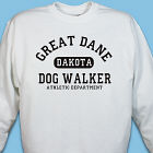 Personalized Dog Walker Athletic Dept. Sweatshirt