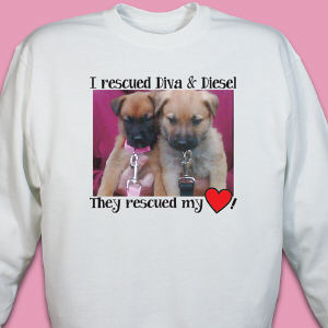 Personalized Rescued Pet Photo Sweatshirt