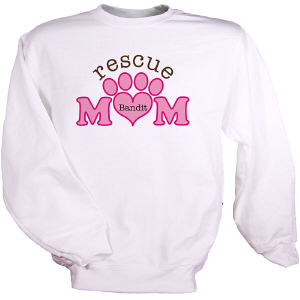 Personalized Rescue Mom Sweatshirt