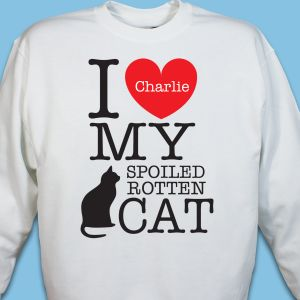 Personalized I Love My Spoiled Cat Sweatshirt
