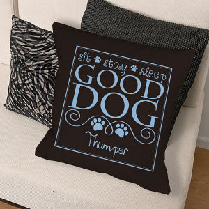Personalized Good Dog Throw Pillow