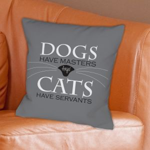 Personalized Pet Cat Throw Pillow