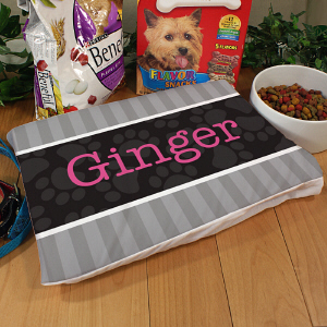Personalized Stripes Pet Pillow