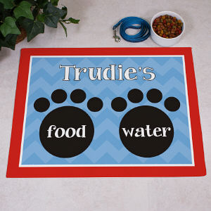 Personalized Food and Water Dog Mat
