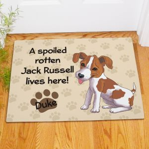 Personalized Jack Russell Spoiled Here Doormat