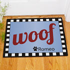 Personalized Woof Dog Welcome Doormat