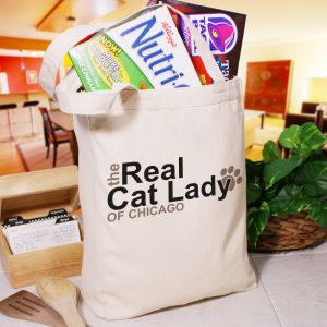 Personalized The Real Cat Lady Tote Bag