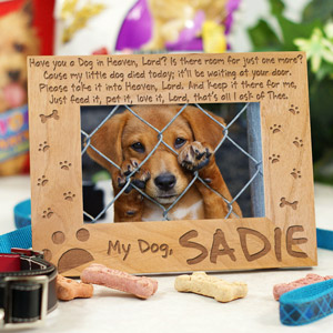 Engraved Dog Memorial Picture Frame