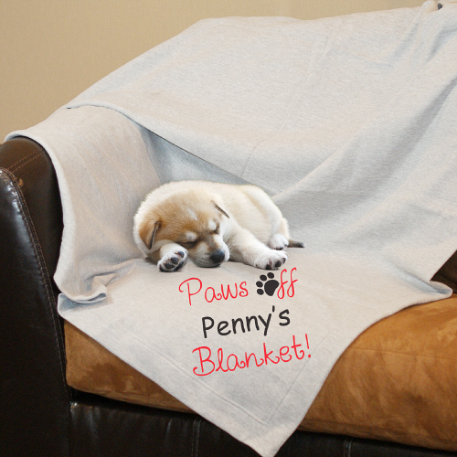 Personalized Paws Off Fleece Blanket D65991