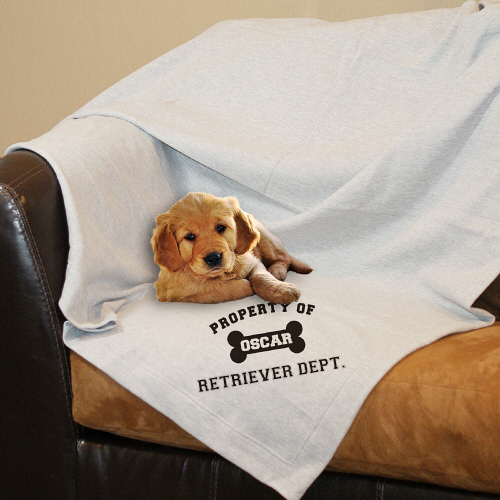 Personalized Property Of Dog Breed Fleece Blanket | Personalized Blankets